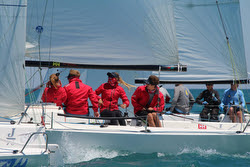 J/70s sailing Chicago YC Verve Cup