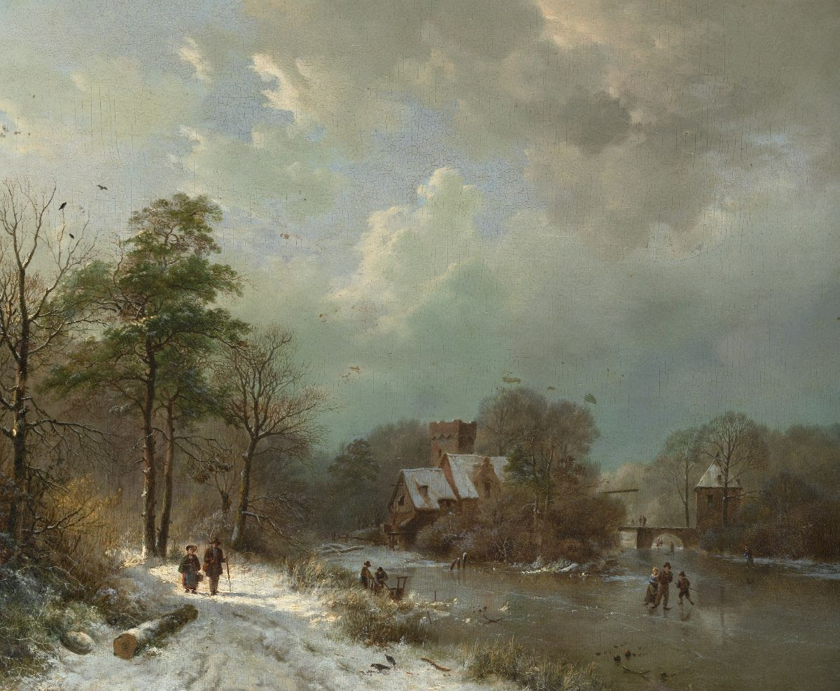 Winter Landscape, Holland, by Barend Cornelis Koekkoek, 1833. The Metropolitan Museum of Art, Catharine Lorillard Wolfe Collection, Bequest of Catharine Lorillard Wolfe, 1887.