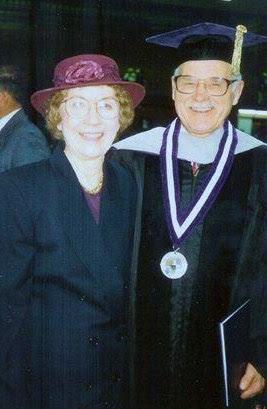 willard and mom at Professor Emeritus Palmer College