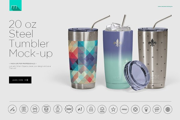 20 oz Stainless Tumbler Mock-up