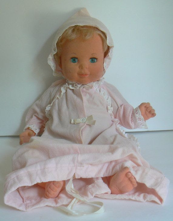 Image result for vintage baby dolls 1970's