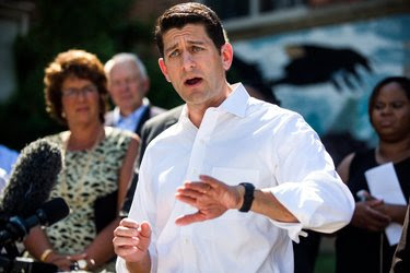 Paul D. Ryan, the House speaker, outside House of Help City of Hope in Washington on Tuesday.