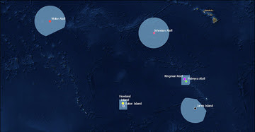 Pacific Islands Remote National Marine Monument map