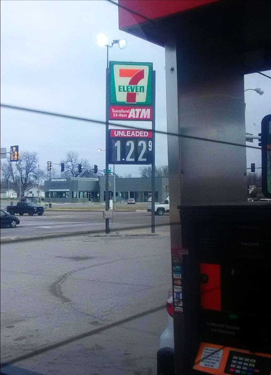 photo of low gas price