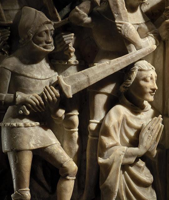 Alabaster sculpture showing the murder of Thomas Becket.