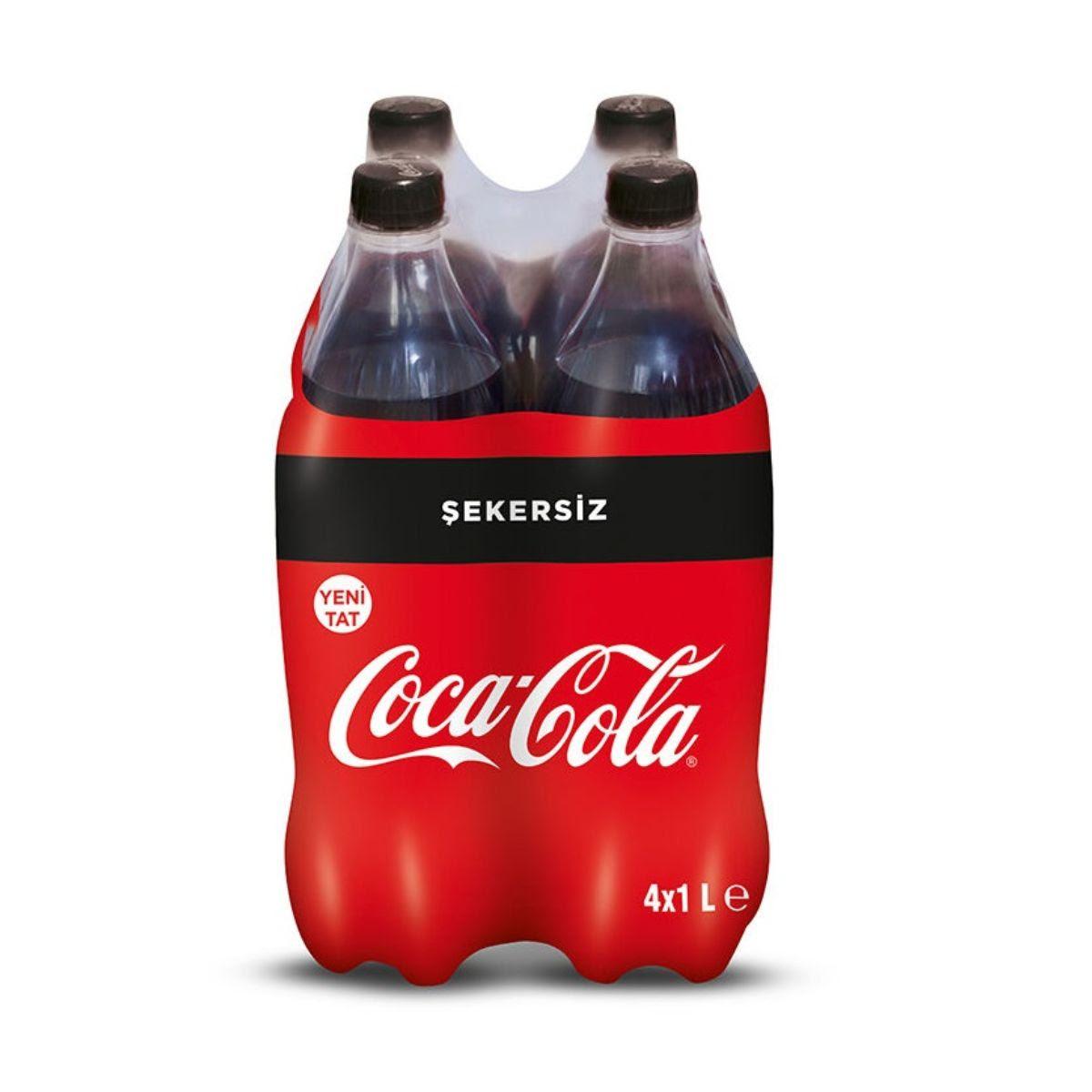 Coca Cola 4 X 1L Sekersiz PET
