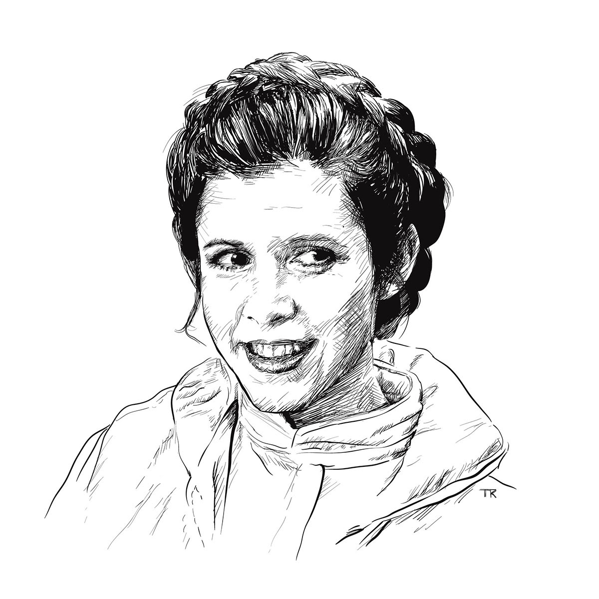 illustration of princess leia