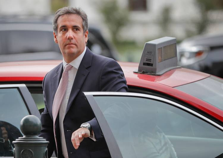 Michael Cohen, President Donald Trump's personal attorney, steps out of a cab during his arrival on Capitol Hill. (AP/Pablo Martinez Monsivais)