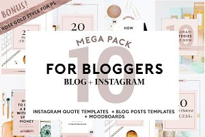 4 BLOGGERS + SOCIAL MEDIA ROSE GOLD