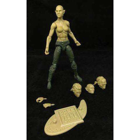Image of Vitruvian H.A.C.K.S. Fantasy Character Blanks - Orc Female Green