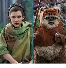 STAR WARS: RETURN OF THE JEDI LEIA & WICKET 1/6 SCALE FIGURE