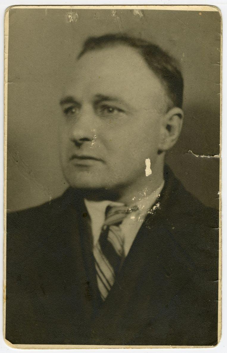 Stakingsleider Joop IJisberg in 1942. Beeld