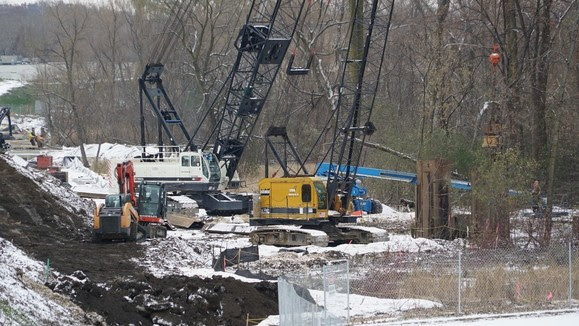 Weekly Construction Photo: Temporary Shoring for the 212/Shady Oak Bridge