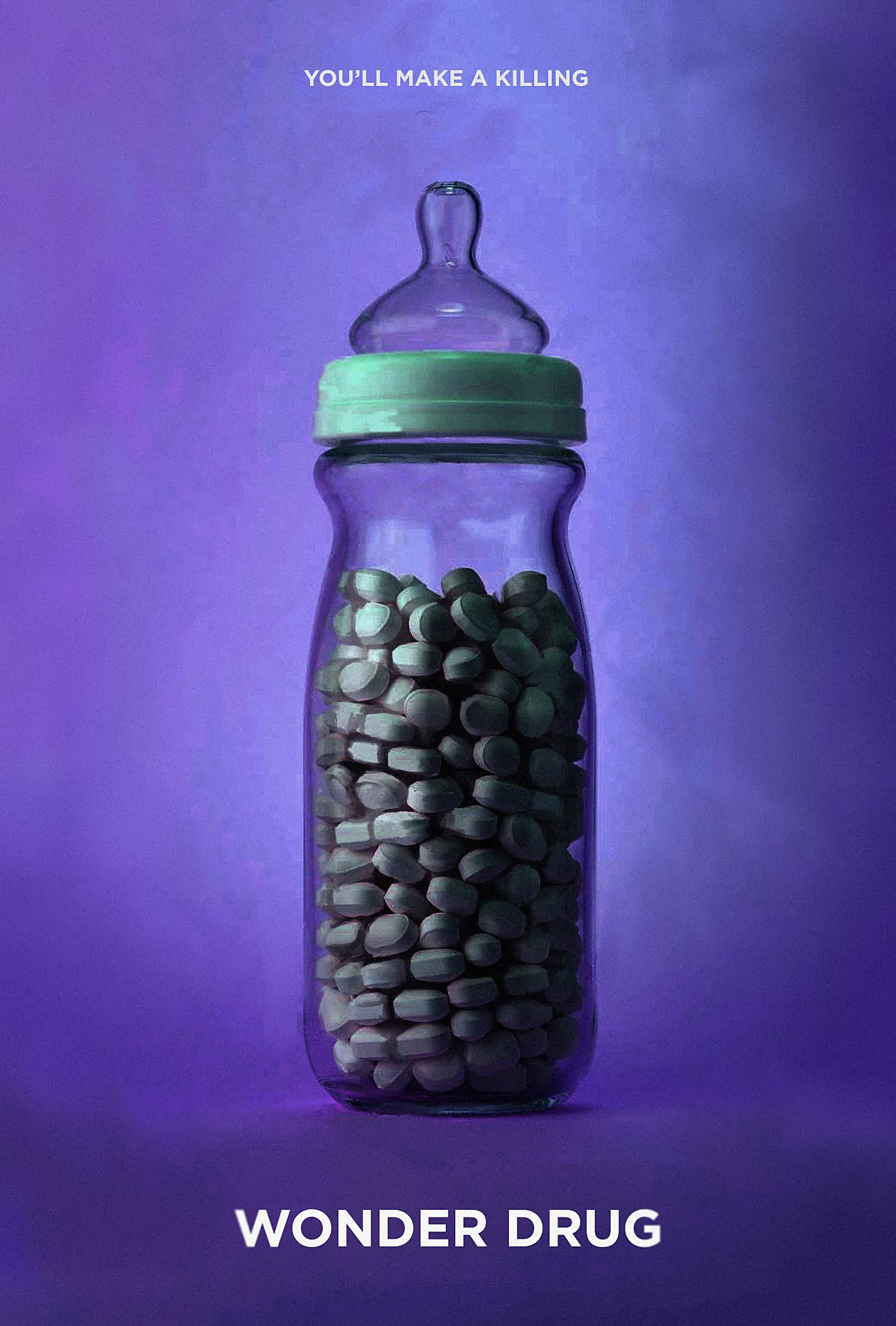 "The Black List created a special poster to promote WONDER DRUG as a ""Featured Script"" on its website in 2018. Poster credit: Benjamin Finkel."