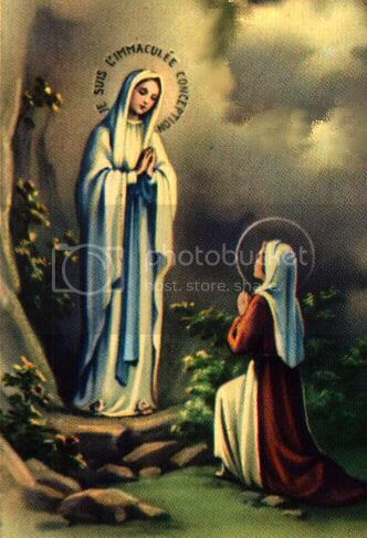 Image result for Picture of.Our Lady of Lourdes
