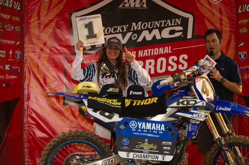 Jazzmyn Canfield takes home the Women's class championship.