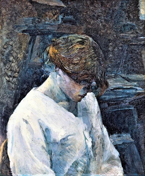 Анри де Тулуз-Лотрек     Рыжеволосая в белой блузе     1889 (578x700, 219Kb)