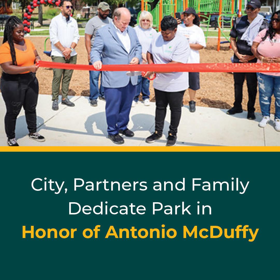 McDuffy Park Dedicated