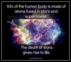 Image result for chemical composition of human body and stars related