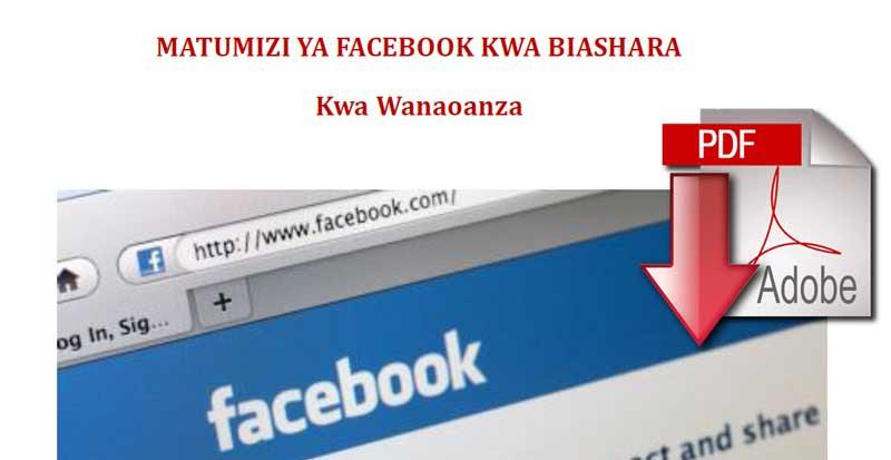 Matumizi ya facebook kwa Biashara
