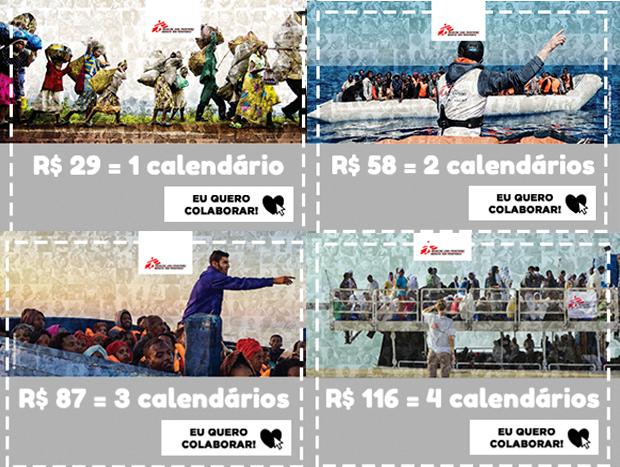 Calendário Médicos Sem Fronteiras 2017
