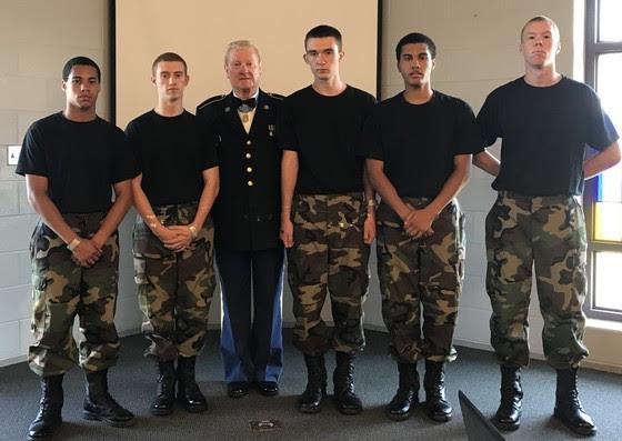 Sammy Davis with Cadets