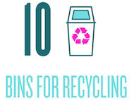 10 Bins for recycling