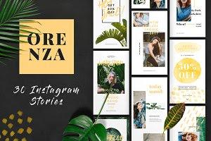 ORENZA - Instagram Stories