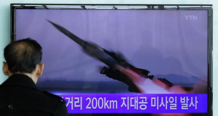 Ensayo de un misil de Corea del Norte (archivo)