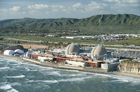 The decommissioned San Onofre Nuclear Generating Station. Photo Credit: Southern California Edison.