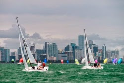 J/70s sailing off Miami