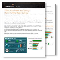 Click to get the 2015 Online Retail Survey