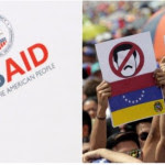 US AID and Venezuela protest photo Reuters