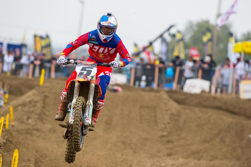 Dungey overcame a pair of stalls in the first moto to salvage an overall podium result and maintain second in the championship.Photo: Simon Cudby