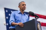 President Obama spoke at a campaign rally for Hillary Clinton in Kissimmee, Fla., on Sunday.