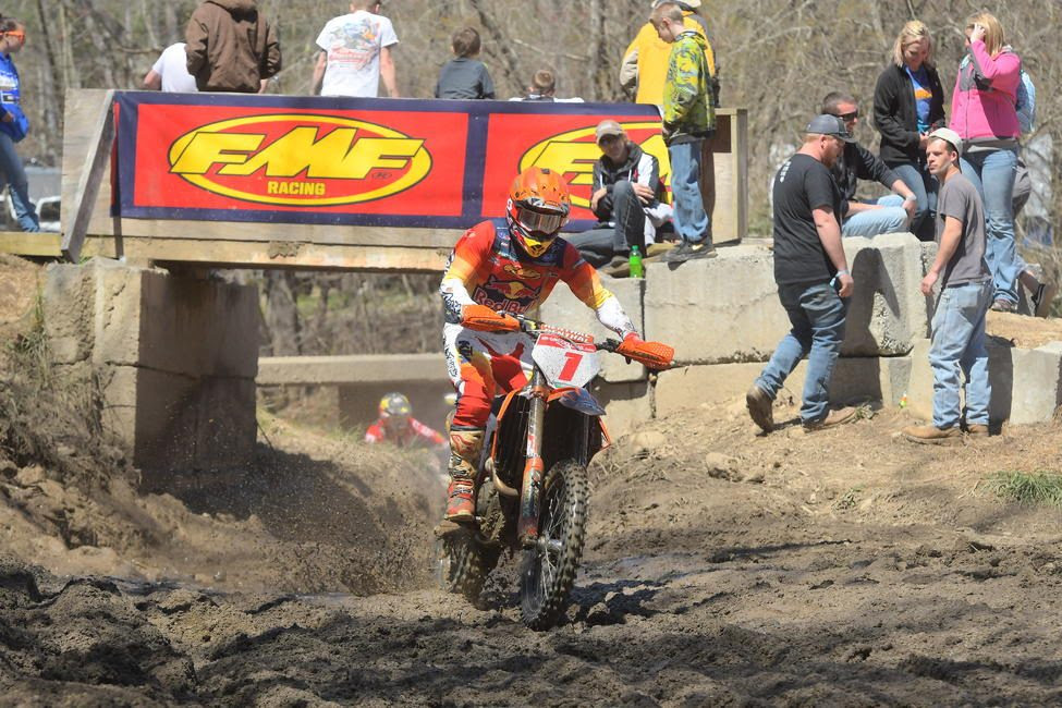 Kailub Russell came through second overall at the 20th Annual FMF Steele Creek GNCC.