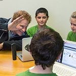 Prince Harry visiting the German class, Halfmoon Bay