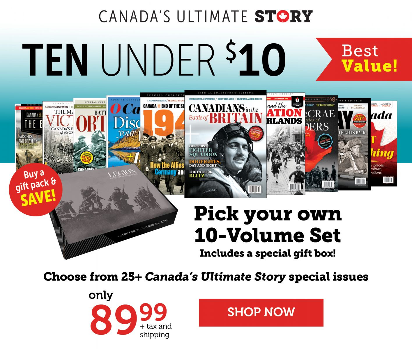 Canada's Ultimate Story - Ten under $10