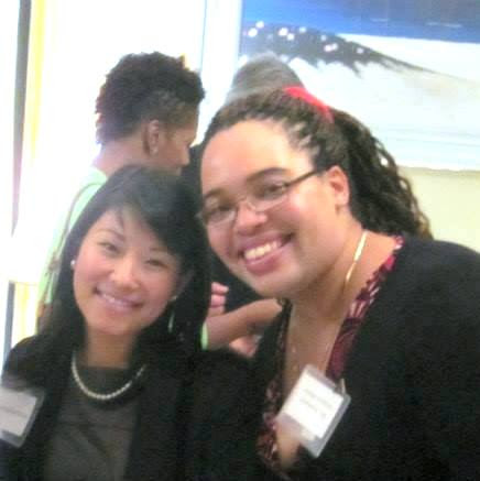 Christina Omori with former NEJETAA President, Stephanie Simpson-White