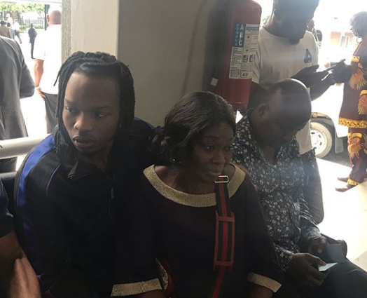 Naira Marley poses in court with his mother (photos)