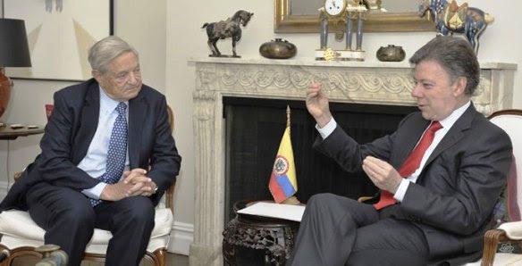 George Soros y Juan Manuel Santos