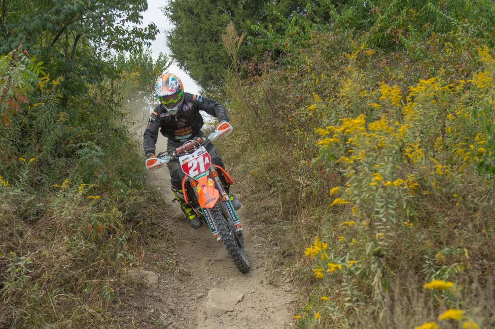Kailub Russell earned the 2015 GNCC and National Enduro Championships just one week apart from each other. Photo: Shan Moore