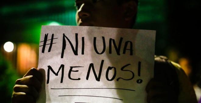 Ni una menos, el lema contra la violencia machista. AFP