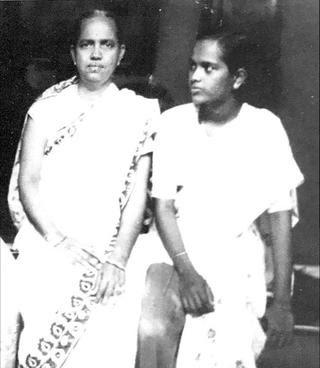 Shakuntala with S. Vijaya Bharati.