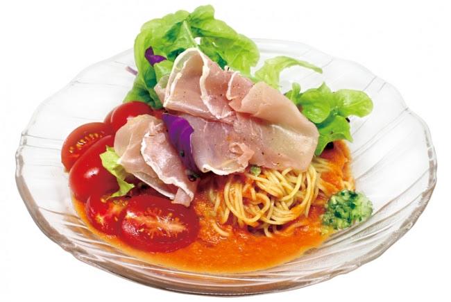 フレッシュ野菜スープのベジトマ冷麺withN