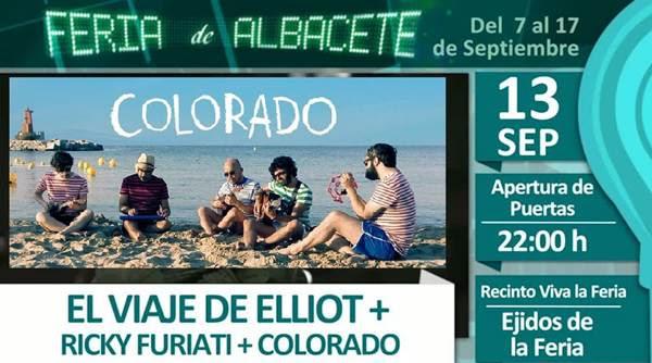 Concierto de El viaje de Elliot, Colorado y Ricky Furiati en Albacete