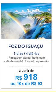 Foz do Iguaçu / R$ 918