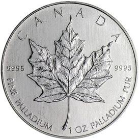 1 oz palladium maple leaf coin