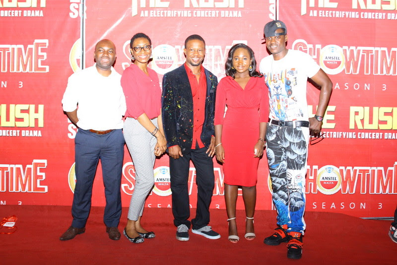 Marketing Director  Non-Alcoholic Drinks Nigerian Breweries  Sampson Oloche  Art Director  Ice Nweke  Brand Manager Amstel Malta  Hannatu Ageni-Yusuf  Ass. Brand Manager Phoebe Larry-Izamoje and Mentor and Judge  Sound Sul