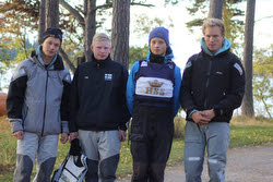 Finnish sailing league sailors at Helsinki